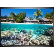 Foto canvas schilderij Vakantie | Groen, Blauw