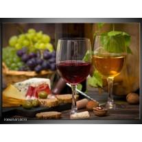 Foto canvas schilderij Wijn | Groen, Bruin