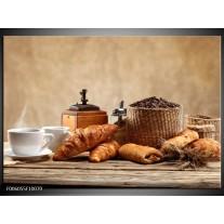 Glas schilderij Ontbijt | Bruin, Crème