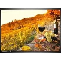 Foto canvas schilderij Frankrijk | Bruin, Oranje