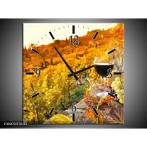 Wandklok op Canvas Frankrijk | Kleur: Bruin, Oranje | F006056C