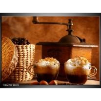 Glas schilderij Koffie | Bruin