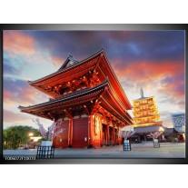 Foto canvas schilderij China | Rood, Grijs, Oranje