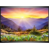 Foto canvas schilderij Natuur | Geel, Groen, Oranje