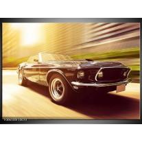 Foto canvas schilderij Mustang | Groen, Geel