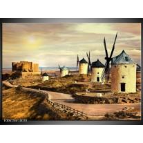Foto canvas schilderij Molen | Bruin, Creme