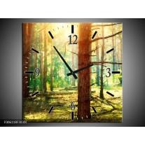 Wandklok op Canvas Natuur   Kleur: Groen, Geel, Bruin   F006118C