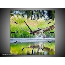 Wandklok op Canvas Natuur | Kleur: Groen, Grijs | F006119C