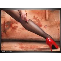 Foto canvas schilderij Schoen | Rood, Bruin