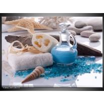 Foto canvas schilderij Spa | Blauw, Wit
