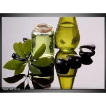Glas schilderij Olijven | Groen, Grijs