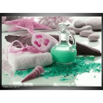 Glas schilderij Spa | Groen, Roze
