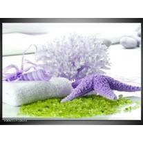 Glas schilderij Spa | Paars, Groen, Wit