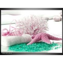 Foto canvas schilderij Spa | Roze, Groen