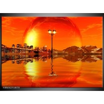 Foto canvas schilderij Steden | Oranje, Rood, Geel