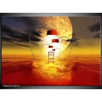Foto canvas schilderij Modern   Oranje, Rood, Geel