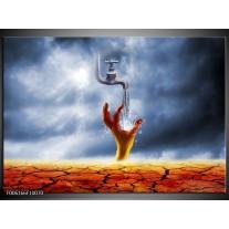 Foto canvas schilderij Modern | Oranje, Grijs