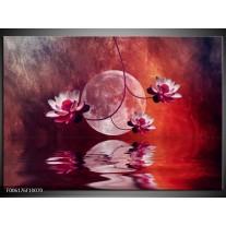 Glas schilderij Modern | Rood, Paars, Roze