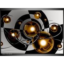 Foto canvas schilderij Modern | Goud, Zwart, Grijs