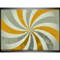 Glas schilderij Abstract | Grijs, Bruin