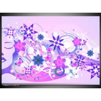 Foto canvas schilderij Abstract | Roze, Paars, Wit