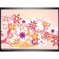 Glas schilderij Abstract | Roze, Paars, Oranje