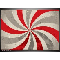 Glas schilderij Abstract   Grijs, Rood