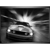 Foto canvas schilderij Mustang | Zwart, Grijs