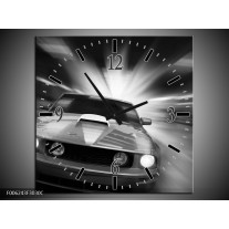 Wandklok op Canvas Mustang | Kleur: Zwart, Grijs | F006243C