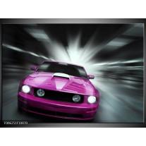 Foto canvas schilderij Mustang | Paars, Roze, Grijs