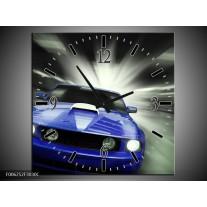 Wandklok op Canvas Mustang | Kleur: Blauw, Grijs | F006252C