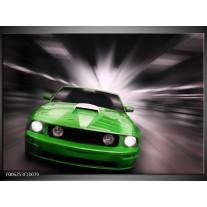 Foto canvas schilderij Mustang | Groen, Grijs