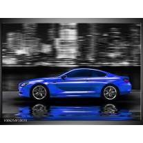 Foto canvas schilderij Auto | Blauw, Grijs