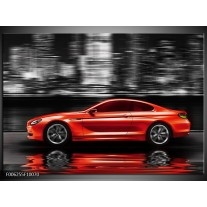 Foto canvas schilderij Auto | Rood, Grijs