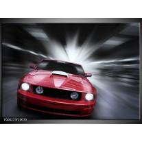 Foto canvas schilderij Mustang   Rood, Grijs