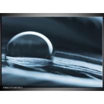 Glas Schilderij Macro | Blauw