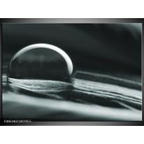 Glas Schilderij Macro | Grijs, Groen