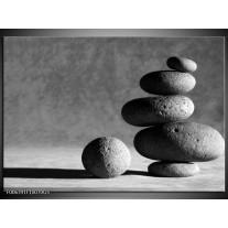 Glas Schilderij Stenen | Grijs, Zwart