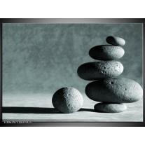 Glas Schilderij Stenen | Grijs, Groen