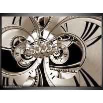 Glas Schilderij Abstract | Sepia