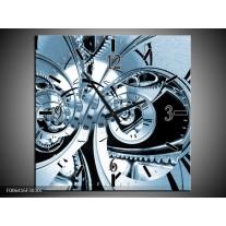 Wandklok Schilderij Abstract | Blauw
