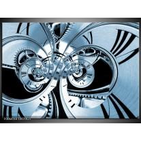 Glas Schilderij Abstract | Blauw