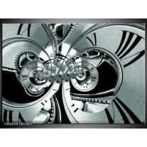 Glas Schilderij Abstract | Grijs, Zwart, Groen