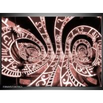 Glas Schilderij Abstract | Bruin, Rood