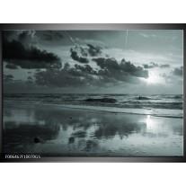 Glas Schilderij Zee | Grijs, Groen