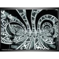 Glas Schilderij Abstract | Grijs, Groen