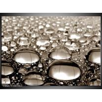 Glas Schilderij Macro   Sepia