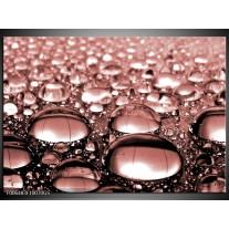 Glas Schilderij Macro | Bruin, Rood