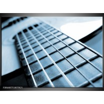 Glas Schilderij Muziek   Blauw