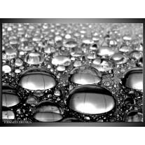 Glas Schilderij Macro | Grijs, Zwart, Zilver